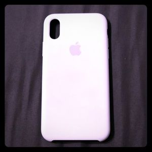 iPhone X/XS Authentic Apple Silicone Case - White